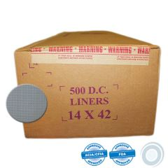 Blue synthetic cheesecloth liners 14 x 42in (500)