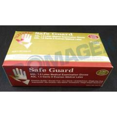 Latex disposable gloves PF small